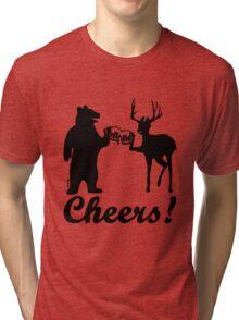 Bear, deer, beer, & cheers Tri-blend T-Shirt