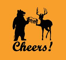 Bear, deer, beer, & cheers Unisex T-Shirt