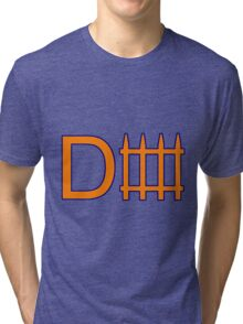Denver D Fence Orange  Tri-blend T-Shirt