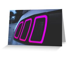 2013 Mustang Gt Tail Light Greeting Card