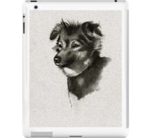 Puppy in Charcoal: Miniature Australian Shepherd: Dog iPad Case/Skin
