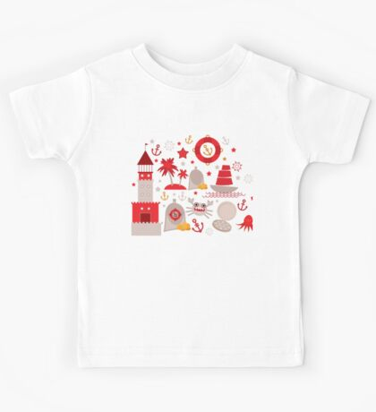 Red lighthouse Kids Tee
