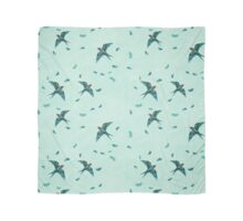 Swooping Swallows in the Air, Pale Mint Scarf