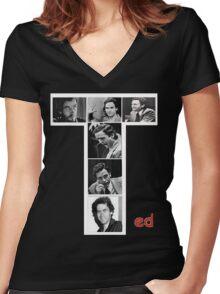 Ted Bundy Serial Killer Women's Fitted V-Neck T-Shirt