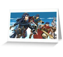Super Smash Bros. Fire Emblem - Lucina, Marth, Ike Greeting Card