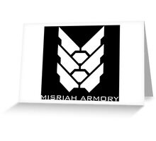 Halo - Misriah Armory (White Logo) Greeting Card