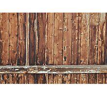 Aged wood Photographic Print