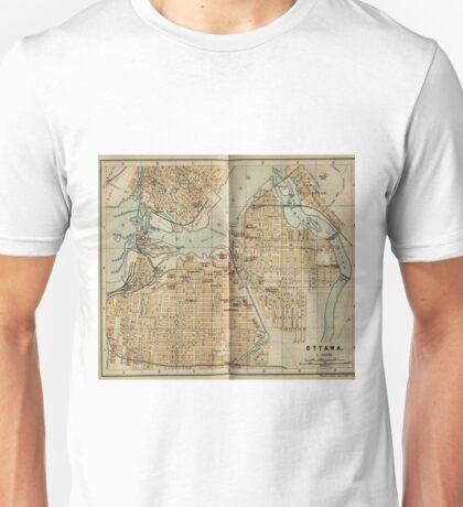 Vintage Map of Ottawa Canada (1894) Unisex T-Shirt
