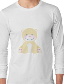 Little pretty polar bear in iceberg Long Sleeve T-Shirt