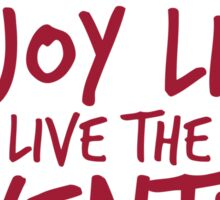Peace Out Enjoy Life Live the Adventure - RED Sticker