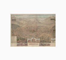 Vintage Pictorial Map of Prescott Arizona (1885) Unisex T-Shirt