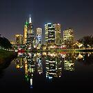 Melbourne city lights by Darren Clarke