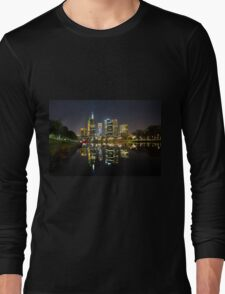 Melbourne city lights Long Sleeve T-Shirt