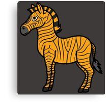 Orange Zebra with Black Stripes Canvas Print