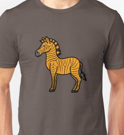 Orange Zebra with Black Stripes Unisex T-Shirt