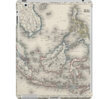 Vintage Map of Indonesia and The Philippines iPad Case/Skin
