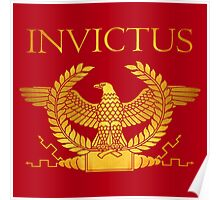 Roman Invictus Eage, Golden on Red Poster