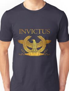 Roman Invictus Eage, Golden on Red Unisex T-Shirt