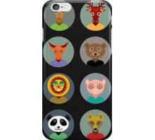 Animal faces 2 iPhone Case/Skin