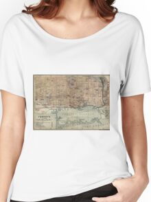 Vintage Map of Toronto (1894) Women's Relaxed Fit T-Shirt