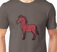 Red Zebra with Black Stripes Unisex T-Shirt