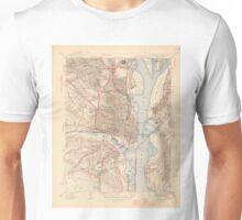 Vintage Map of Alexandria Virginia (1945) Unisex T-Shirt
