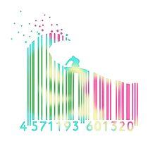 Surf barcode Photographic Print