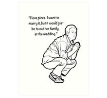 Mike Birbiglia Pizza Larger Art Print