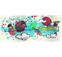 Snoopy Colorful Flying Ace Poster