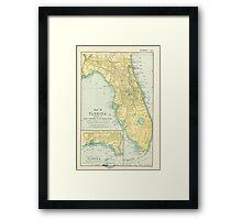 Vintage Map of Florida (1891) Framed Print