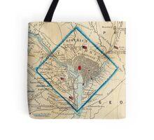 Vintage Map of Washington D.C. Battlefields (1862) Tote Bag