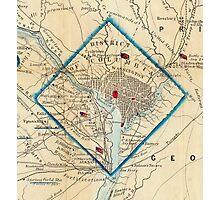 Vintage Map of Washington D.C. Battlefields (1862) Photographic Print