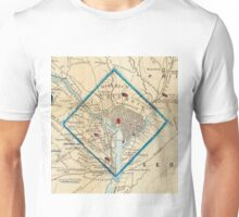 Vintage Map of Washington D.C. Battlefields (1862) Unisex T-Shirt