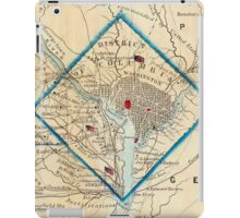 Vintage Map of Washington D.C. Battlefields (1862) iPad Case/Skin