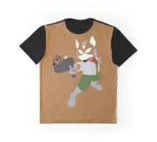 Fox Pixel Silhouette Graphic T-Shirt