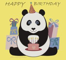 PANDA HAPPY BIRTHDAY Baby Tee