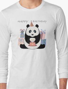 PANDA HAPPY BIRTHDAY Long Sleeve T-Shirt