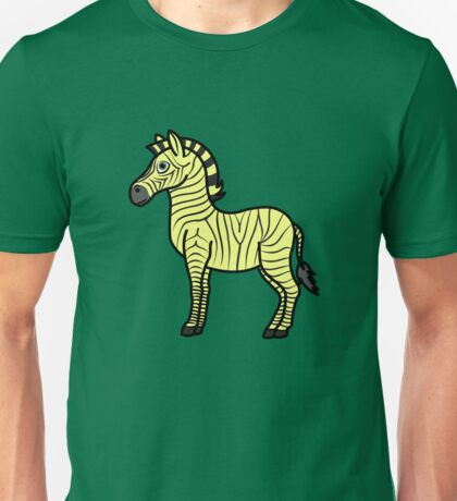 Yellow Zebra with Black Stripes Unisex T-Shirt