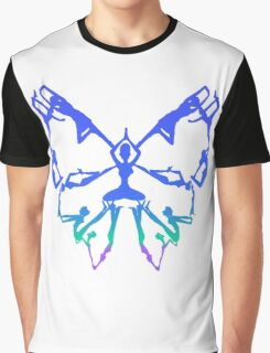 Inspirational Yoga Poses Butterfly New Beginnings Graphic T-Shirt