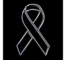 Black Ribbon Awareness Photographic Print