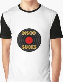 Cartoon Disco Sucks Graphic T-Shirt