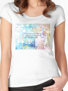 Travel quote by Henry David Thoreau  Women's Fitted Scoop T-Shirt