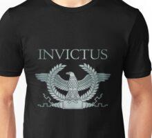 Roman Invictus Eagle, Silver on Black Unisex T-Shirt