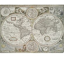 Vintage Map of The World (1651) Photographic Print