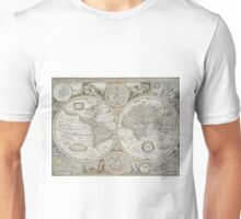 Vintage Map of The World (1651) Unisex T-Shirt