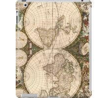 Vintage Map of The World (1660) iPad Case/Skin
