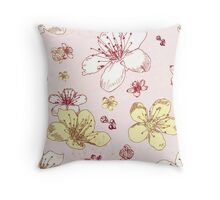 Soft Floral Blossoms Throw Pillow
