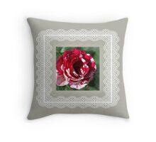 Country Rose Variegated Throw Pillow