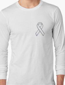 White Ribbon Awareness Long Sleeve T-Shirt