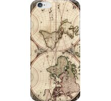 Vintage Map of The World (1690) iPhone Case/Skin